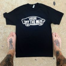 """VEGAN – OFF THE MEAT"" men's t-shirt"
